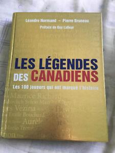 Livre: Les légendes des Canadiens