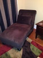 Chaise Lounge ..Brown microfibre