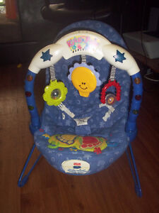 Fisher price bouncer chair with vibration and music