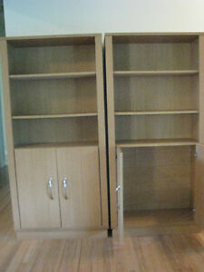 Assorted bookcases and shelving units