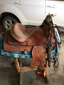 """15"""" western pleasure saddle"""