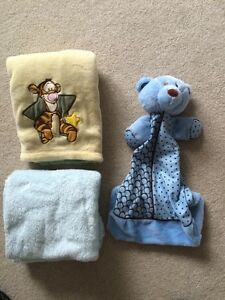 Blankets and diaper holder