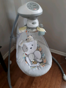 Fisher-Price Sweet Snugapuppy Dreams Cradle 'n Swing - Like New