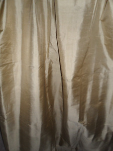 Shimmery Soft SILK Drapes, Soft Gold, 2 Panels
