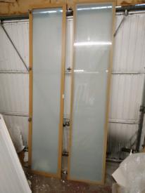 IKEA pax wardrobe doors tall glass beech