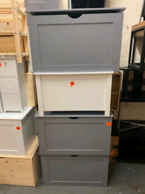 Grey or White Storage Box with Lid only £35 each. Real Bargains Clear