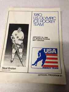 VINTAGE 1980 USA OLYMPIC ICE HOCKEY PROGRAM MIRACLE ON ICE
