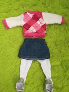 "18"" doll clothing fits American Girl doll"