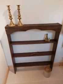 Antique Oak Hand Made Freestanding/Wall Mountable shelf