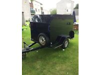 single axle braked trailer