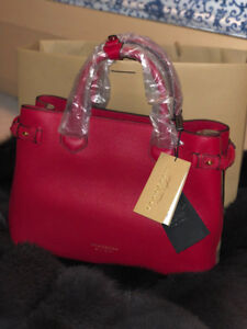 BURBERRY LEATHER & HOUSE CHECK PURSE