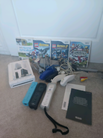 Nintendo wii bundle with games and extras