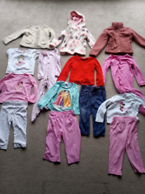 Collection of girls 12-18 mths clothing