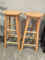 28 1/2 inch wooden stools