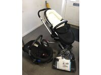 Silver Cross Surf travel system pushchair pram car seat and accessories
