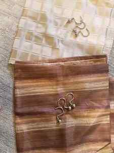 Two Shower Curtains with Metal Hooks Stratford Kitchener Area image 1