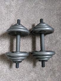 Cast Iron 20kg dumbbell set