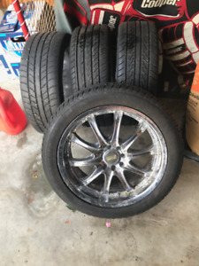 4 Wheels with tires 205/50R17 8 Bolt Universal Pattern