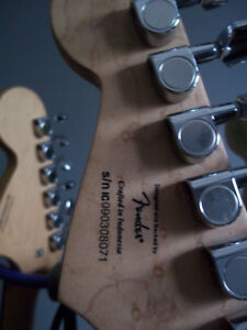 2 red metallic Fender Affinity Squier strats sell/trade