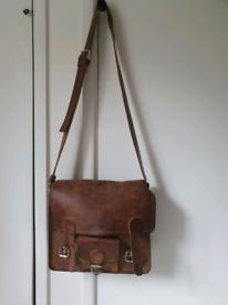 Scaramanga leather satchel bag
