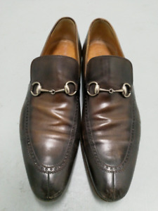 Mens Gucci horse bit leather loafers size 11 $200