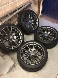 """Msw/oz racing wheels 18"""" 5x120 immaculate condition"""