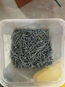 """8lbs of 2.5"""" galvanized nails"""