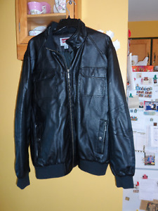 Levis black faux leather jacket