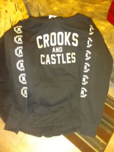 Brand new crooks and castles hoodie