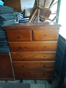 Timber tallboy plus two side draws Tarro Newcastle Area Preview