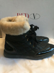 RED Valentino Women's fur lined sneaker Boots/Booties, Euro 36,