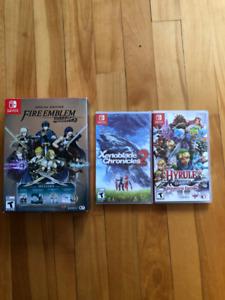 Plusieurs jeux Switch a vendre