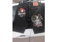 Ed Hardy men's Jean shorts