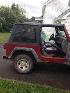 Parting out 1998 4L Jeep TJ