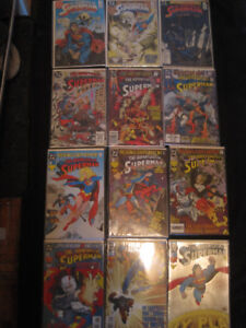 """""""THE ADVENTURES OF SUPERMAN"""" 12 ISSUE COMIC LOT (NM-MT)[1988-93]"""