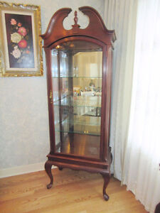 Bedford Furniture - Wood & Glass Curio / Display Cabinet