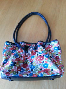 Brighton colourful fabric and leather purse
