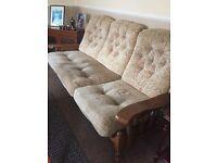 Three seater sofa & rocking arm chair