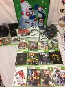 Xbox 360 Bundle,19 games, 2 wireless controllers, DJ Hero, Wi-Fi