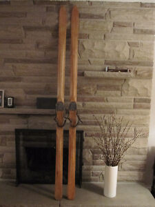 Antique Wooden Skiis - completely restored