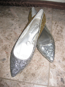 Zara gold and silver flats BRAND NEW
