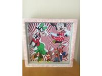 Hand made Disney frame with figures