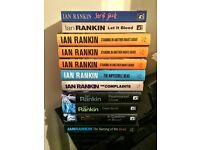 Collection of Ian Rankin Rebus books. All signed by the author.