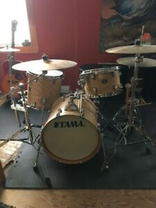 Tama silverstar drums with cymbals
