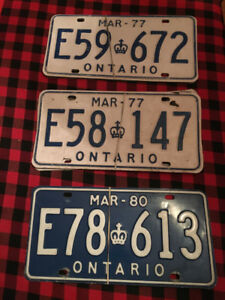 3 Sets (in pairs of 2) of ON, Truck License Plates