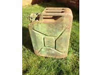 Large WW2 British army Jerry can, fuel container