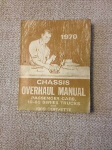 1970  Chevrolet Chassis Overhaul Manual