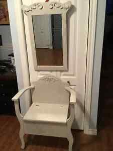 Hall bench and mirror set...OBO