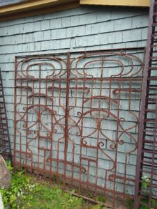 Wrought Iron Gate/Fence Sections:  Stunning, vintage mid-1800's