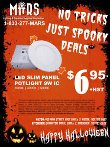 Spooky Halloween Deal! 9w LED Slim Panel - IC $6.95 Only!